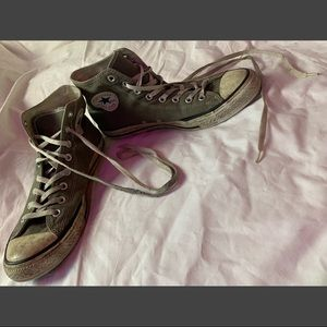 Used Vintage Converse All Star Hightops Grey